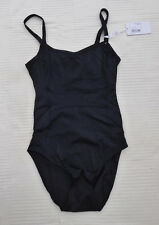 NEW Panache black high leg cut out back underwired swimming costume Size 30 D