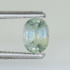 1.15 cts faceted light blue sapphire oval montana