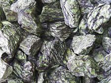 1/2 lb SERPENTINITE Tumbling Rough Rock Stone tumbler green dragon serpentine FS