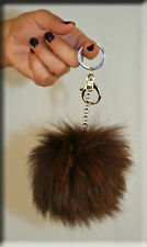 New Brown Fox Fur Key Chain - Extra Large Size - Efurs4less