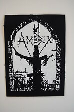 "Amebix Cloth Patch Sew On Badge Crust Punk Rock Music Doom Approx 5""X4"" (CP22)"