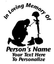 IN LOVING MEMORY PERSONALIZED CUSTOM MILITARY USA VINYL DECAL STICKER WINDOW CAR