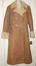 SAWYER'S of NAPA~ Deerskin Trading Post Shearling Coat Sz 12 ** V.G.  COND.**