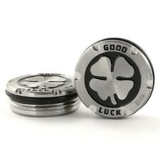 2x 25g Deluxe Tour Style Weights for Scotty Cameron Putters, Lucky Clover, Black