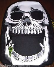 SKELETON Face Skull Backpack NEW Full Size Canvas Book Bag 16 x 12 Hot Topic NWT