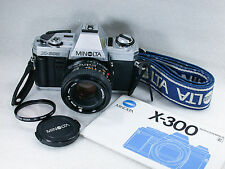 Minolta X-300 Film Camera, Chrome+ Minolta MD 50mm F/2 Standard Lens 8434722
