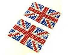 2x Autoadesivo DIAMANTE FINTO UNION JACK Inglese Bandiera Adesivo Da Incollare