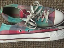 All Star CONVERSE Shoes Size 5/37.5 Check Pattern Very Good Condition