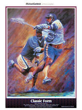 CLASSIC FORM Action-Packed Lacrosse Art Poster Print by Michael Gottlieb