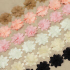 1 Yard 3D CHIFFON CHIC FLOWER CROCHET LACE TRIM FABRIC Wedding Dress Crafts VL3