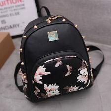 New Girl Leather School Bag Travel Cute Backpack Satchel Women Shoulder Rucksack