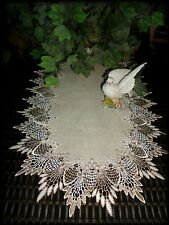 """35"""" Dresser Scarf Table Runner Doily FEATHER LACE"""