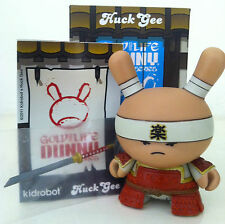 "DUNNY 3"" GOLD LIFE SERIES HUCK GEE 1/16 VERY SERIOUS SAMURAI RED 2011 KIDROBOT"