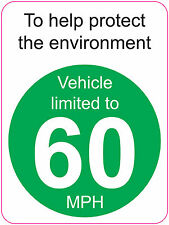 [ 120x160mm ] LIMITED TO 60 MPH | TO HELP PROTECT THE ENVIRONMENT - VAN/WAGGON