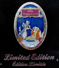 DISNEY STORE UK/EU - LADY AND THE TRAMP 60TH ANNIVERSARY PIN LIMITED EDITION 300