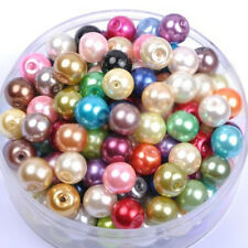 Mixed Round Glass Pearl Spacer Loose Beads Jewelry Finding DIY 4mm-100pcs