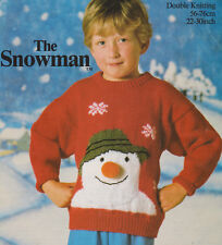 "Snowman Head Childrens Baby  Xmas Sweater DK 22"" - 30"" Knitting Pattern"