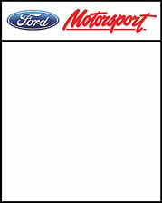 FORD MOTORSPORT RACE DOOR PANEL/ STICKERS( X2) 400MM X 500MM PRINTED & LAMINATED