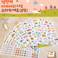 NEW 6* Sheets Kawaii Cartoon Cat Paper Sticker for Scrapbooking Diary Decor CA