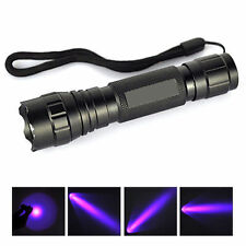 UV LED 365NM Ultra Violet Blacklight Flashlight Torch Light Lamp Tools