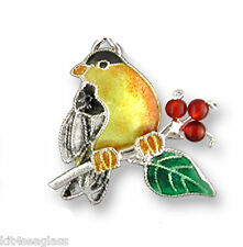 Zarah Goldfinch Bird CHARM Sterling Silver Enamel 3D Yellow DISCONTINUED - Boxed