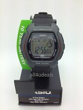Mens Casio HDD600-1AV Illuminator Black Rubber Resin Digital Sport Alarm Watch