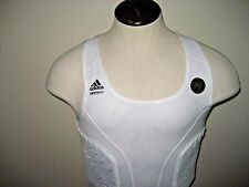 Adidas Basketball Techfit Mens Padded Tank Top White Size Large Free Ship NEW