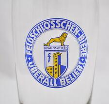 """""""Feldschlösschen Biere überall beliebt"""" Bierglas Glas Braunschweig 0,2L"""