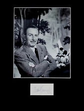 WALT DISNEY signed autograph PHOTO DISPLAY