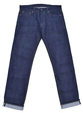 Ralph Lauren-jeans-Straight Fit-selvedge Raw Denim-azul-w32 l34-nuevo