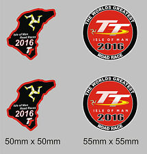 4 X Isle Of Man Tt Carrera pegatinas 2016