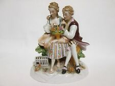 ORIGINAL GERMANY PORCELAIN FIGURINE OF COUPLE, HAS DEFECT, HUS, HEINZ SCHAUBACH