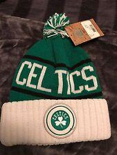 Boston Celtics Mitchell & Ness Cuffed Pom Knit Hat Cap