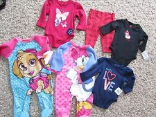 NEW  LOT /6 BABY GIRL CLOTHING CARTERS DISNEY SETS OUTFITS 3 MONTH FREE SHP