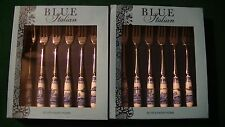SPODE BLUE ITALIAN SET OF 12 PASTRY FORKS MINT IN BOX ESTATE FLATWARE SILVERWARE