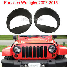 BLACK HEADLIGHT EYEBROW TRIM COVER FOR 07-15 JEEP WRANGLER UNLIMITED 4-DOOR(JK)