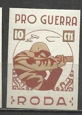 5323-SELLO LOCAL ESPAÑA GUERRA CIVIL RODA BARCELONA POR GUERRA,SPAIN CIVIL WAR,E