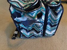 THIRTY ONE On the Double Set Thermal Dotty Chevron Insulated Tote Bag NWT