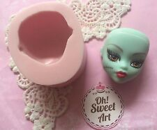 Monster High  Doll face silicone mold fondant cake  decorating APPROVED FOR FOOD