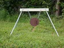 Steel Target 8 Inch Diameter x 3/8 inch thick AR500 Gong with Stand