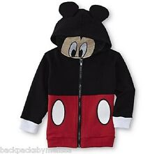 MICKEY Mouse Jacket NeW Boy's Hooded EARS Hoodie size 5T Hood Face Mask NWT