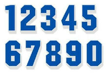 """Reflective Bright Blue 2"""" tall Numbers with White Drop Shadow"""