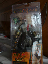 7' NECA GOD OF WAR KRATOS Golden Fleece Armor with Medusa Head Action Figure