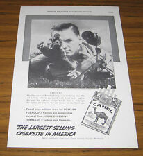 1938 Vintage Ad Camel Cigarettes Man Shoots .22 Rifle Sighting Scope