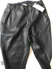 AG The Kelsey navy Leather Track Pants size XS Leatherette Wax Acne Jogger $215