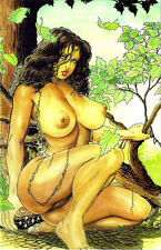 CAVEWOMAN MERIEM'S GALLERY #5 BUDD ROOT Special Edition Cover NUDE Nice! NM New