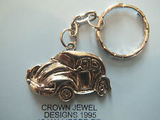 TIBETAN SILVER VOLKSWAGEN BEETLE KEYRING ORGANZA GIFT BAG CLASSIC CARS RETRO