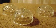 3 Vintage Anchor Hocking Bubble Clear Single Light Candlesticks - Very Nice