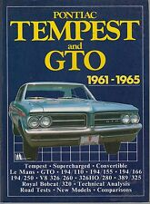 PONTIAC TEMPEST GTO LE MANS 4-CYL 6-CYL V8 (1961-1965) PERIOD ROAD TESTS BOOK