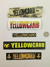 Yellowcard VINTAGE promo Sticker + PATCH Lot of 4 rare Ocean Avenue Ave Stickers
